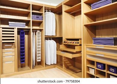 classic wood modern closet background