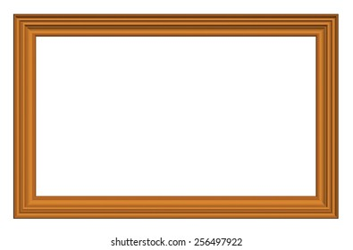 Classic wooden frame isolated on white background.3d render