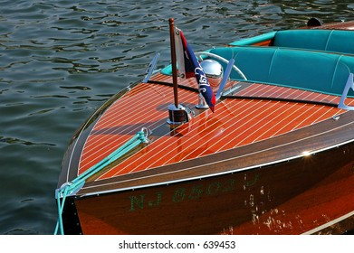 Classic Wooden Speed Boat