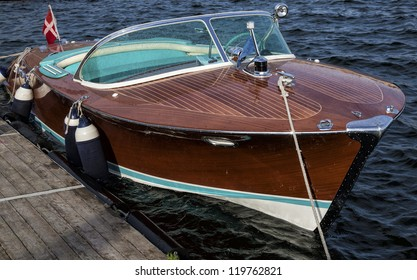 A classic wooden sport boat