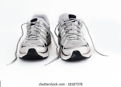Classic worn sports running or gym sneaker trainer shoe foot ware