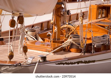 Classic Yacht 2 - Teak Deck and Wheel