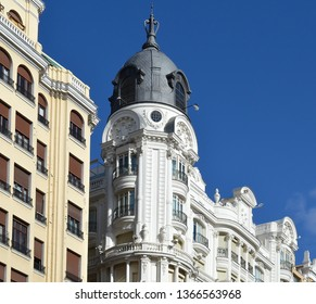 Classical architecture in Madrid, Spain