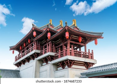 Classical architecture in Xi'an, Shaanxi Province, China.