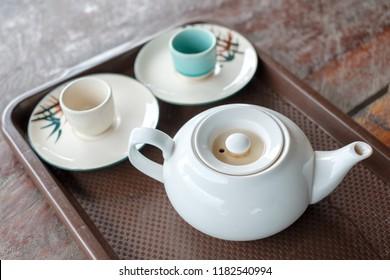 Classical asian hot tea set