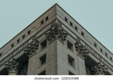 Classical Building Facade in City