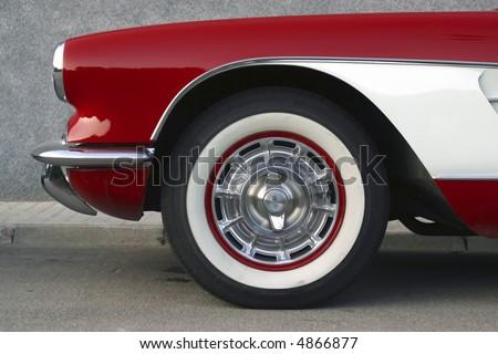 Classical Chevrolet Corvette Red White Stock Photo Edit Now