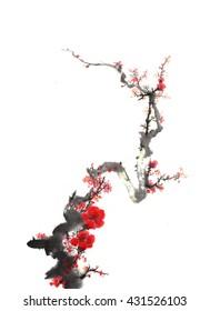 classical China plum blossom