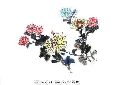 classical China--chrysanthemum, Chinese painting