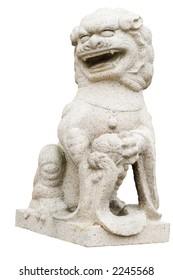 CLassical chinese lion statue in Victoria's Chinatown, British Columbia, Canada