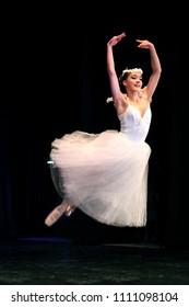 "Classical dance - girls dance ballet on pointe and tutu. Sugar Plum Fairy from ""The Nutcracker"" Tchaikovsky. International contest-festival ""Seven steps"" Choreography, Novosibirsk 11-12.11.17"