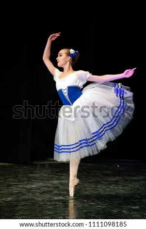 Classical Dance Girls Dance Ballet On Stock Photo (Edit Now