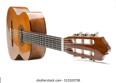 classical guitar isolated on a white background