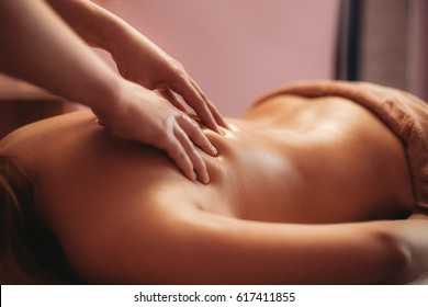 Classical massage on the neck
