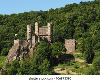 The classical medieval castles along the river and valley