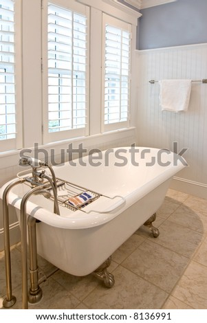 Classical Modern Bathroom Clawfoot Tub Stock Photo Edit Now