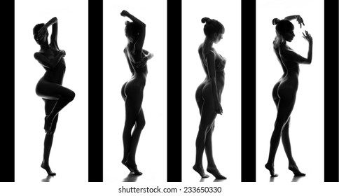 classical monochrome artistic nudity style picture of woman