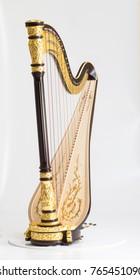 Classical music instrument. Pedal harp
