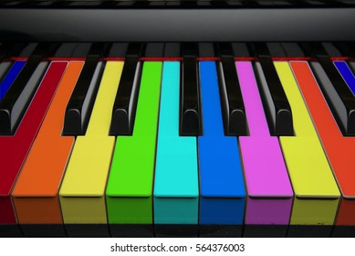 Classical Piano Keyboard with Colorful Keys for Kids and Fun Learning
