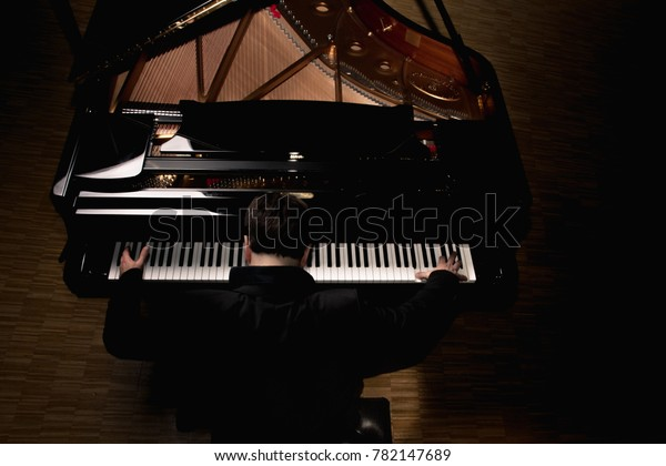 Classical Piano Pianist Concert Hall Luxury Stock Photo (Edit Now