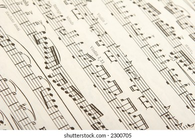classical sheet music for woodwind and string instruments