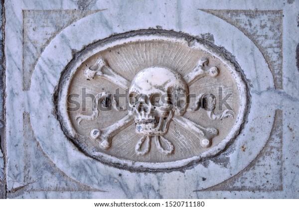 Classical Skull Crossed Bones Symbol Carved Stock Photo Edit Now 1520711180