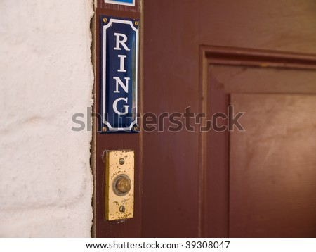 Classical Style Door Entry Bell Ring Stock Photo Edit Now 39308047