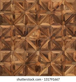 Classical wooden parquet seamless texture