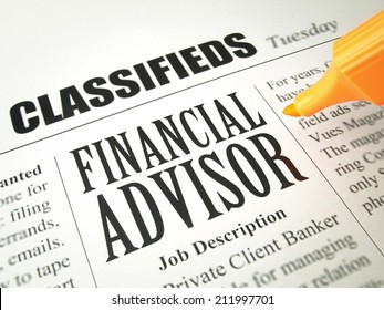 Classified Ads for Financial Advisors