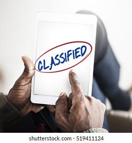 Classified Quality Warranty Service Guarantee Concept