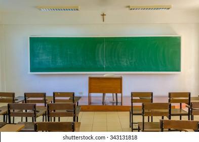 Classroom in catholic school