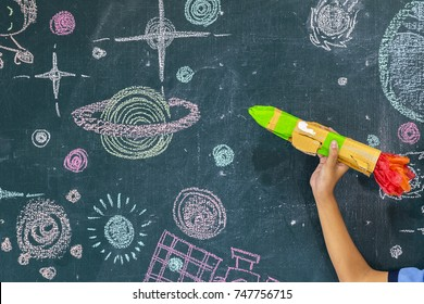 The classroom environment in which the students are intending to study seriously,Students work STEM,Are learning about Solar system,Draw and measure distance,Invented aircraft rocket,follow that Dream