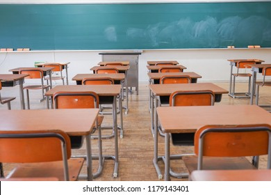 Classroom with nobody