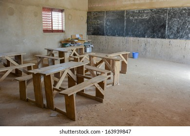 classroom of a primary school in Africa
