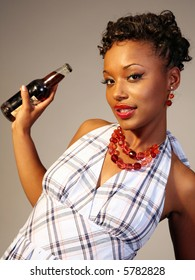 Classy Black Woman in fifties Fashion