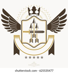 Classy emblem, heraldic Coat of Arms.