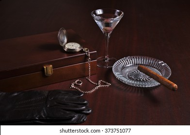 Classy gentlemen related items. Themed vintage and lifestyles photograph
