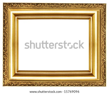 Classy Golden Frame From My Frames Stock Photo (Edit Now) 15769096 ...