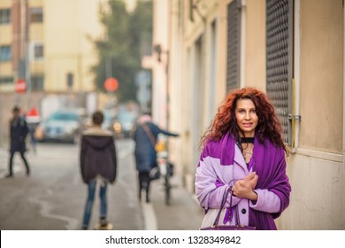 classy menopausal woman holding hands while walking