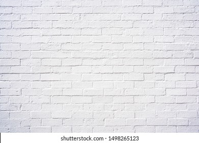 Classy white brick exterior wall design spa e as background