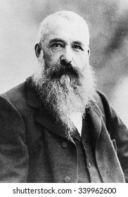 Claude Monet in 1901 in the Giverny. Photograph by Gaspard Felix Nadar. The 60 year old impressionist painter would continue work for another two decades, producing his Waterlily series.