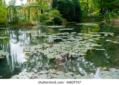 Claude Monet's garden and lily pond in Giverny France