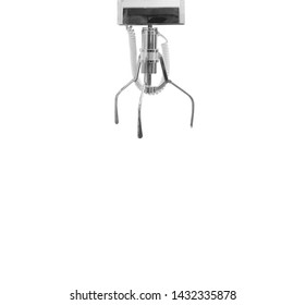 Claw game or cabinet game for catching the doll isolated on white background, This has clipping path.