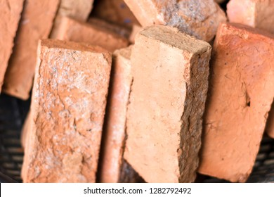 clay bricks or red brick used for construction