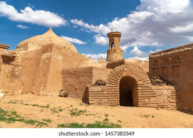 Clay buildings and minaret in the capital of the Golden Horde - the city of Sarai Batu