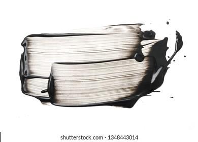 Schlag- oder Kohlemaske, Schlaganfall auf weißem Hintergrund