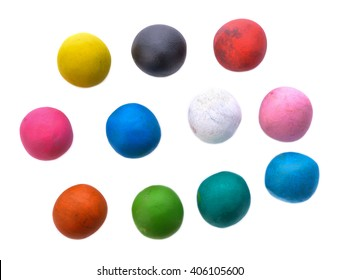 Clay for children on isolated background.