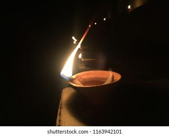 Clay deepak is an oil lamp used in India in hindu festival