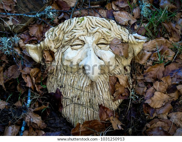 Clay Head Bearded Hairy Big Nose The Arts Stock Image