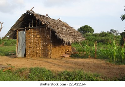 Clay hut near Agbopura